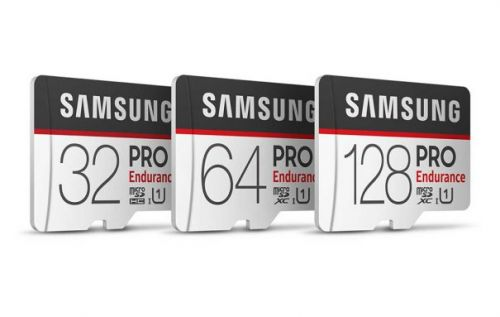 Samsung PRO Endurance microSD cards are made for video cameras