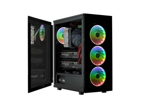 This FSP PC case comes covered in tempered glass with RGB fans for $100