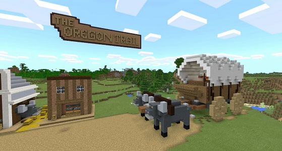 'Minecraft' adds 'Oregon Trail' to teach kids about frontier life