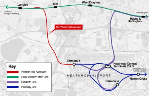 New Heathrow airport rail link gets public support