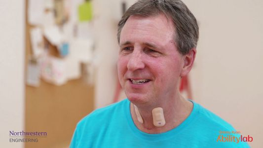 Throat sensor helps you recover from a stroke