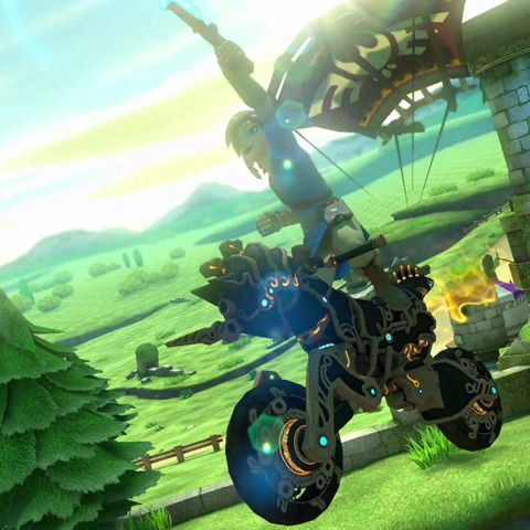 Breath Of The Wild Zooms Into Mario Kart 8 Deluxe