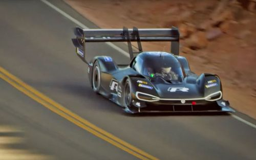 Watch the Volkswagen I.D. R Pikes Peak take a practice mountain run