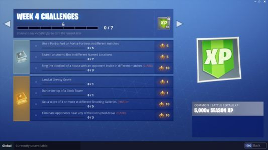 Fortnite Week 4 Challenge Guide: Shooting Gallery, Port-a-Fort, And Others