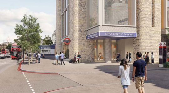 A new entrance for King's Cross tube station