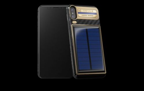 Solar-charging iPhone X Tesla now available if you can afford it