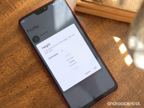 How to measure height in centimeters in Google Fit
