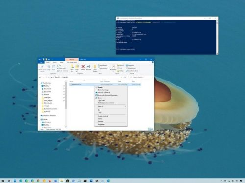 How to mount and dismount ISO files on Windows 10 without extra software