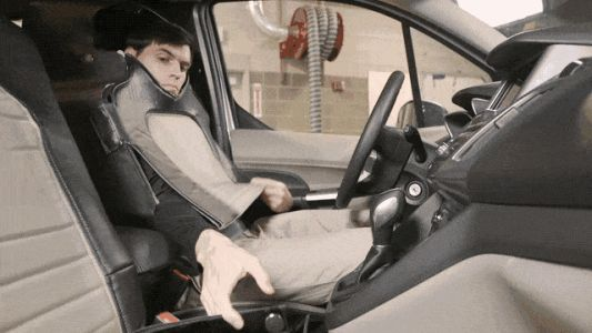 Ford disguised a man as a car seat to research self-driving