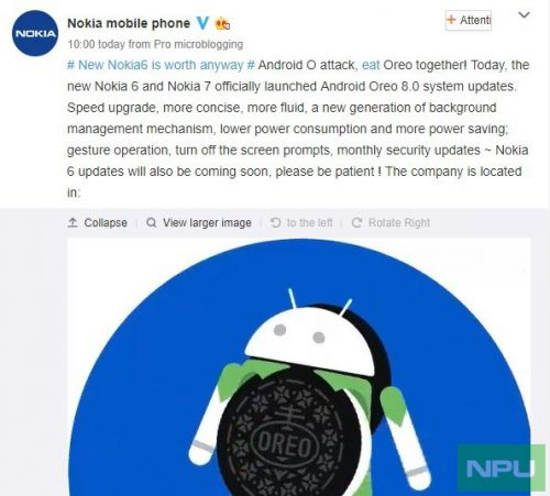Nokia 7 receiving Android Oreo in China. Nokia 6 2017 to get it soon