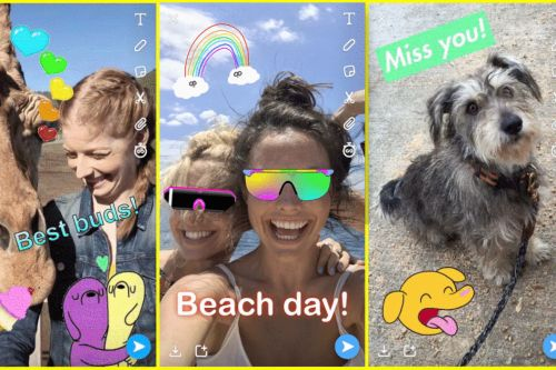 Snapchat now has Giphy integration and will introduce a Tabs function for Stories