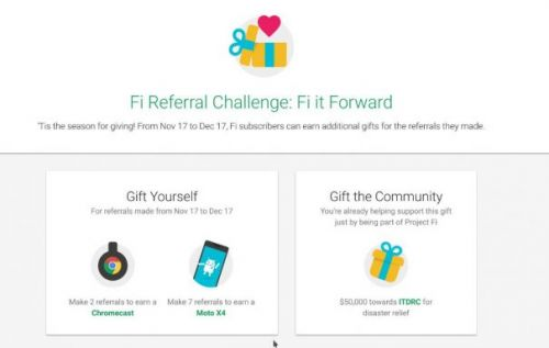 Project Fi wants you to refer new subscribers for a cause