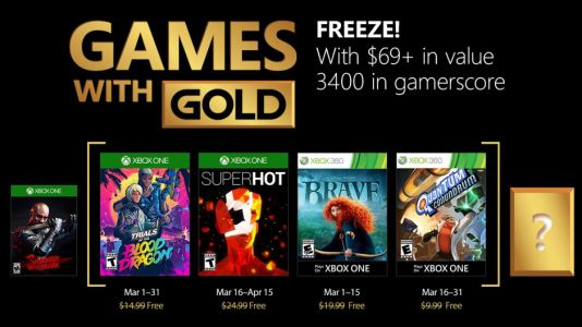 Here Are The Xbox Games With Gold For March 2018