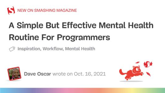 A Simple But Effective Mental Health Routine For Programmers