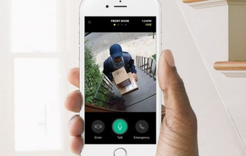 Canary Package Detection security camera mode sends delivery alerts