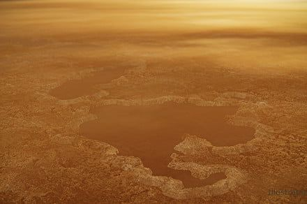 Titan's lakes are formed by explosions of methane from beneath its surface