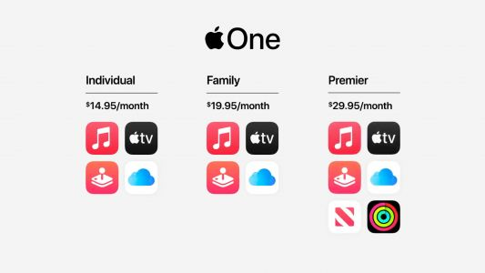 Apple One bundles iCloud, Music, TV+, Arcade, News+ and Fitness+ for $30 a month