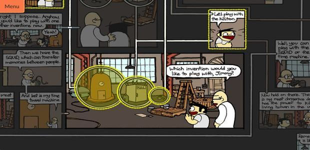 Have a read of Meanwhile: An Interactive Comic Book