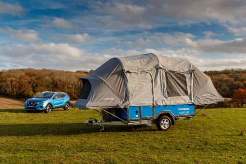 Nissan concept uses recycled Leaf batteries to power camping trips