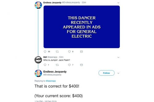 The best new Twitter bot is an endless game of Jeopardy where the winners are good at puns