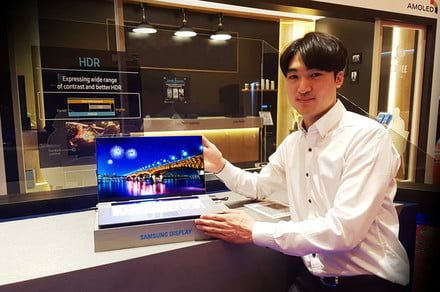 Samsung permits peek at an eye-popping, 15-inch 4K OLED laptop display
