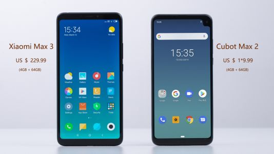 CUBOT Max 2 vs Xiaomi Max 3, showdown of huge screens