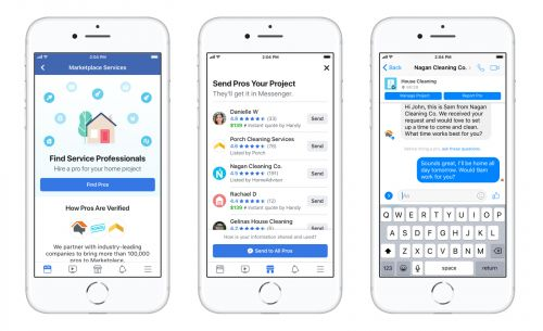 Facebook Marketplace adds section for home service professionals
