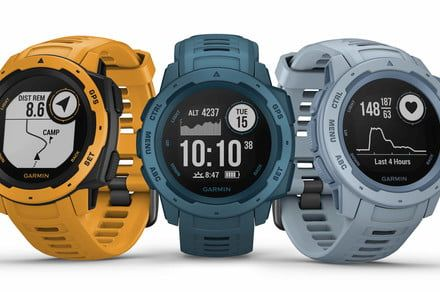 Garmin adds a splash of spring color to its Instinct hiking smartwatches