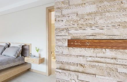 Add some nature to your tech with Mui, a wood panel that's also a smart display