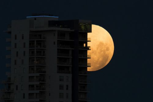 Yes, there's a full moon tonight, but it won't be pink