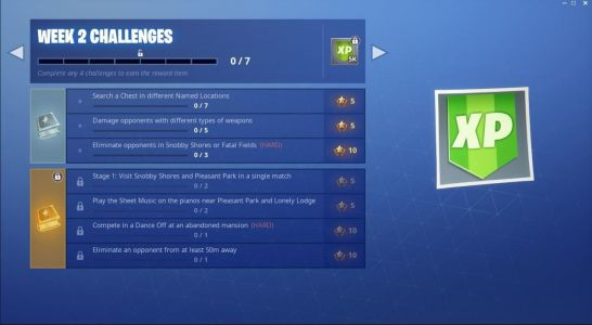 Fortnite Week 2 Challenges: Play Sheet Music, Dance Off At Abandoned Mansion, And More
