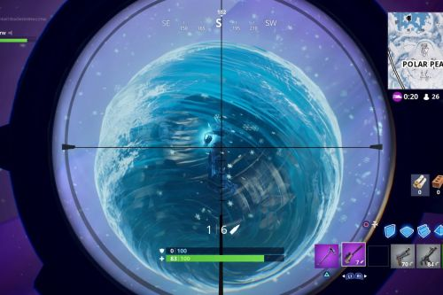 Fortnite's floating sphere exploded, leaving the island covered in snow and zombies