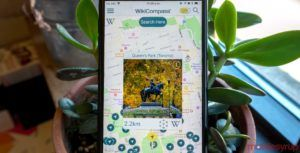 WikiCompass makes learning about the world immediately around you effortless