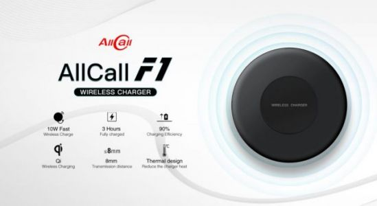 AllCall MIX2 to Come with a Powerful 10W Wireless Charger Named F1