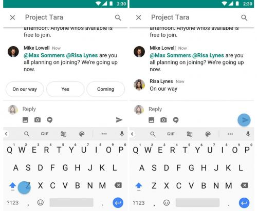 Google adding Smart Reply to Hangouts Chat