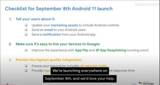 Android 11 set to go official on September 8?