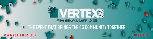 Vertex 2019 tickets now on sale! VFX, VR, Game Art and more