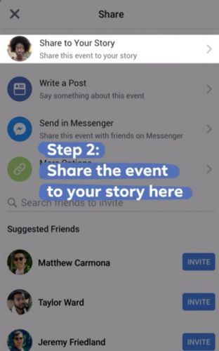 Facebook adds the option to share events to Stories, message friends 'interested' in going