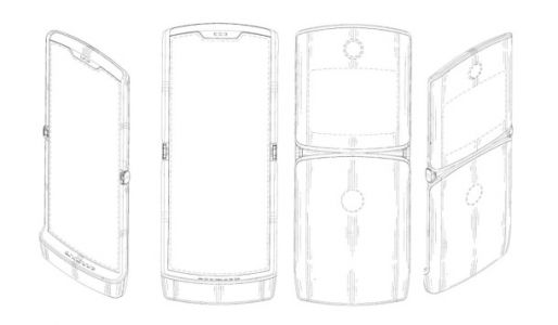 This might be our first look at Motorola's new design for a RAZR with a foldable display