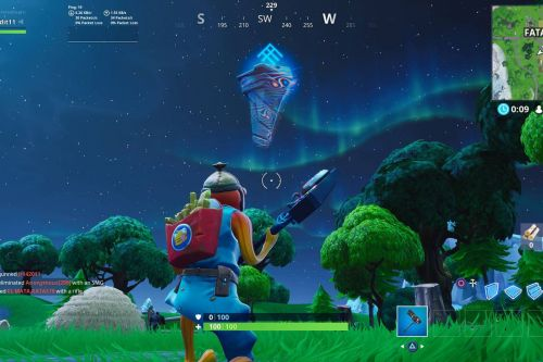 Fortnite players are pushing a floating alien rune across the island