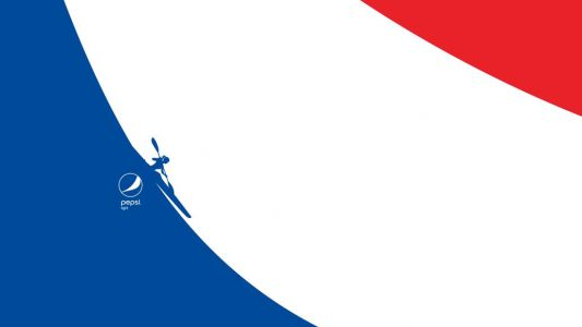 Abstract Pepsi logo ads use negative space to get sporty