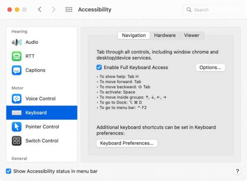 MacOS Monterey: How Full Keyboard Access provides freedom from the mouse