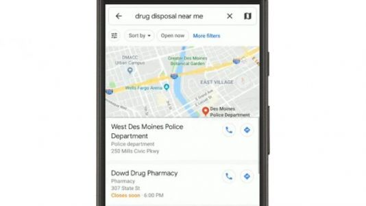 Search Google Maps For Safe Drug Disposal Locations