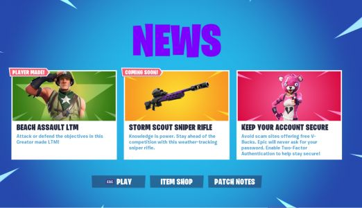 Today's Fortnite 9.41 Content Update Adds Storm-Tracking Sniper Rifle