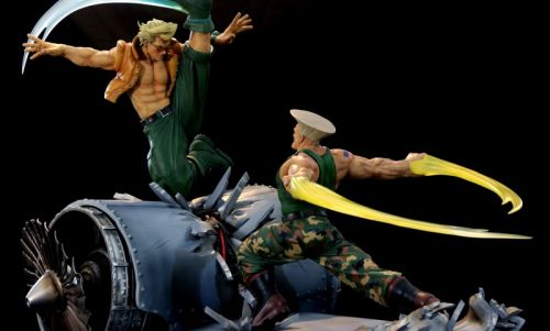 Awesome Guile Vs. Nash Street Fighter Diorama On The Way From Kinnetiquettes