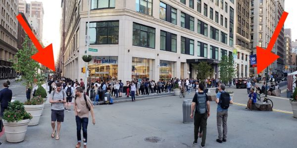 People in New York were lining up around a city block to buy this $530 Android phone