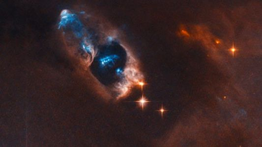 NASA Captures Image of Bright Blue Objects in Space