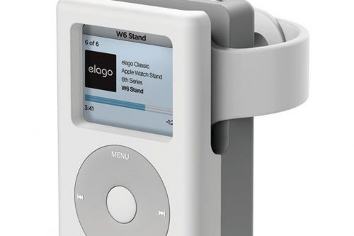 This neat stand turns your Apple Watch into a classic Apple iPod