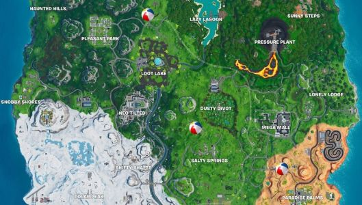 Fortnite: Giant Beach Ball Locations - 14 Days Of Summer Challenge Guide