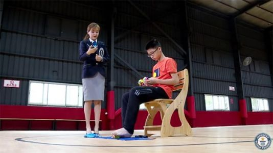 Watch: Teen Solves Three Rubik's Cubes With Hands and Feet